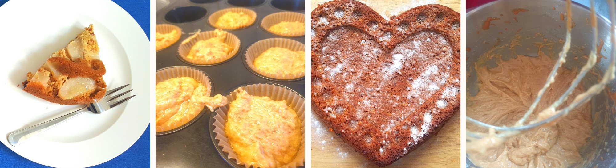 Veganer fructosearmer Erdnuss-Kuchen